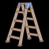 脚立のフリーイラスト Clip art of steplaadder