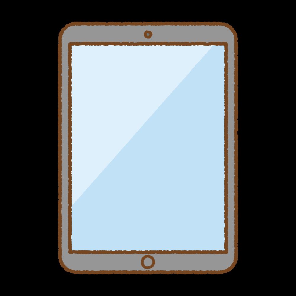 タブレット端末のフリーイラスト Clip art of tablet-computer