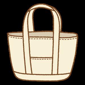 トートバッグのフリーイラスト Clip art of red tote-bag