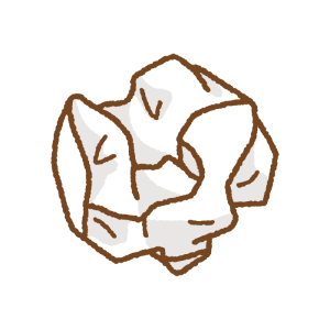 紙くずのフリーイラスト Clip art of waste-paper