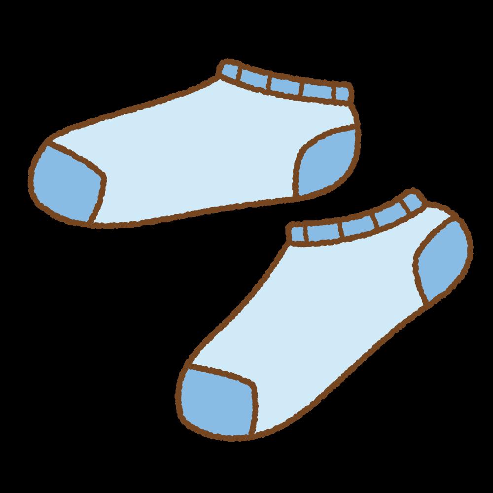 青いスニーカーソックスのフリーイラスト Clip art of blue ankle socks