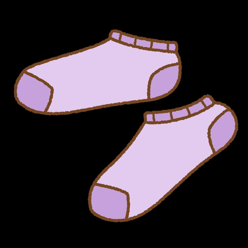 紫のスニーカーソックスのフリーイラスト Clip art of purple ankle socks