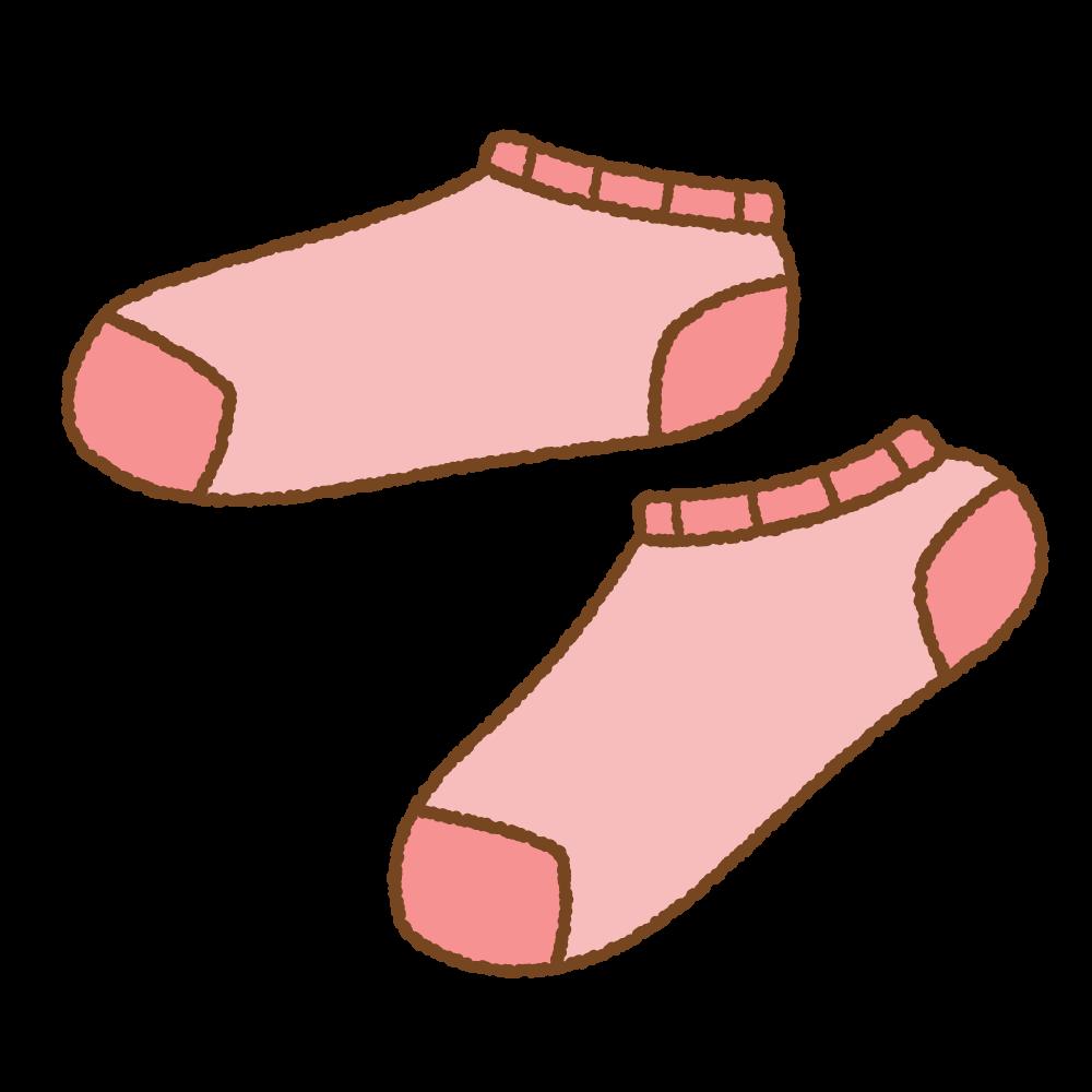 スニーカーソックスのフリーイラスト Clip art of ankle socks