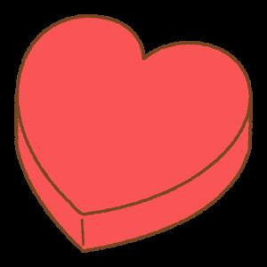 ハート型のチョコーレトボックスのフリーイラスト Clip art of heart-box