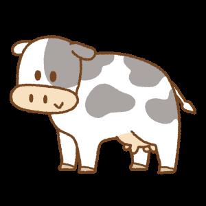 牛のフリーイラスト Clip art of female cow
