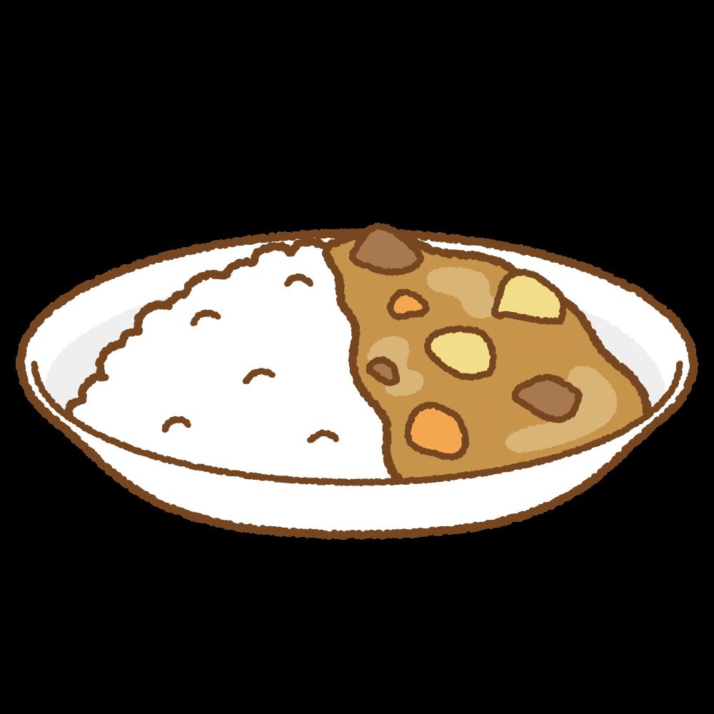 カレーライスのフリーイラスト Clip art of curry-rice