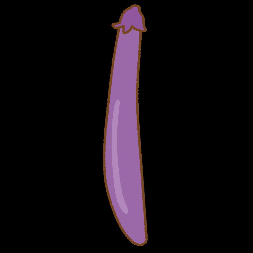 長ナスのフリーイラスト Clip art of long eggplant