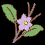 ナスの花のフリーイラスト Clip art of eggplant flower