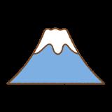 富士山のフリーイラスト Clip art of fujisan