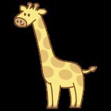 キリンのフリーイラスト Clip art of giraffe