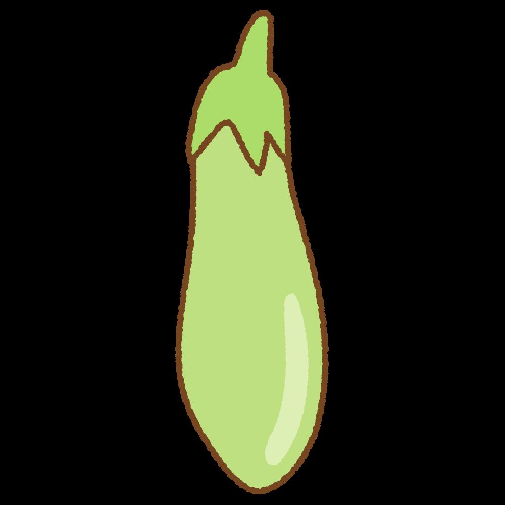 青ナスのフリーイラスト Clip art of green-eggplant