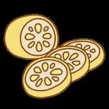 からし蓮根のフリーイラスト Clip art of karashi-renkon