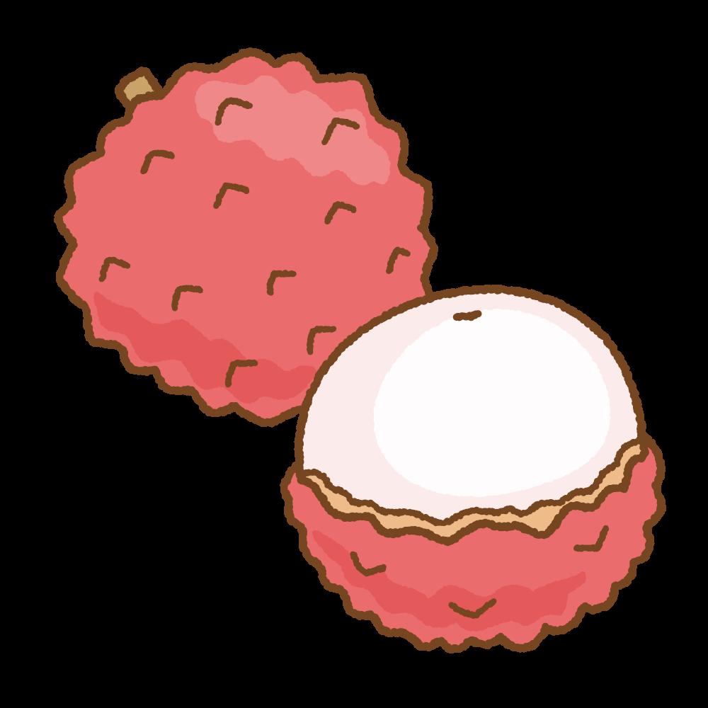 ライチのフリーイラスト Clip art of lychee