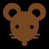 ねずみの顔のシルエット mouse-face_silhouette_brown
