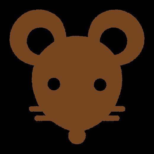ネズミの顔のシルエット