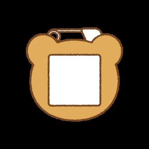 くまの名札のフリーイラスト Clip art of bear name tag