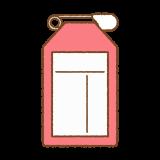 赤い名札のフリーイラスト Clip art of red name-tag