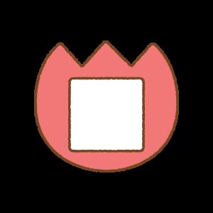チューリップの名札のフリーイラスト Clip art of tulip name tag