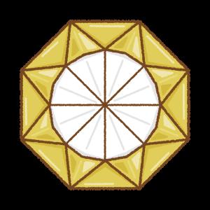 折り紙のメダルのフリーイラスト Clip art of origami medal