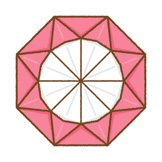 メダルの折り紙のイラスト