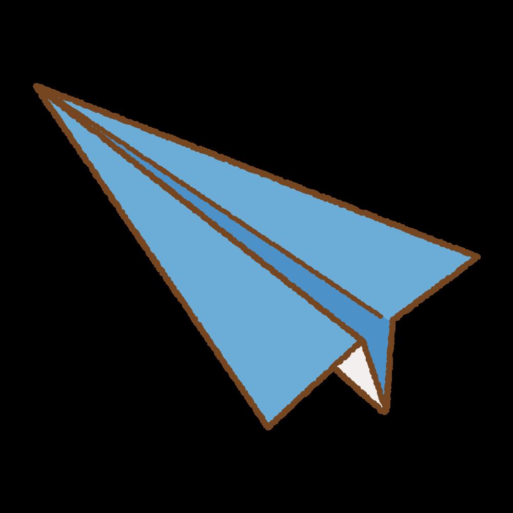 青い紙飛行機のフリーイラスト Clip art of blue paper plane