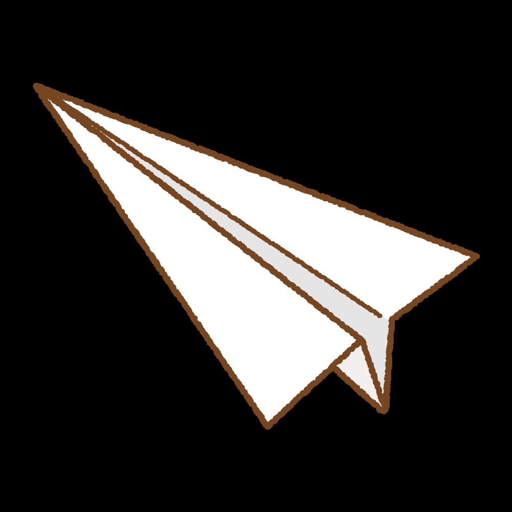 白い紙飛行機のフリーイラスト Clip art of white paper plane