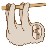 ナマケモノのフリーイラスト Clip art of sloth