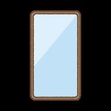 ベゼルレスのスマートフォンのフリーイラスト Clip art of bezel less smartphone