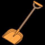 雪かきシャベルのフリーイラスト Clip art of snow-shovel