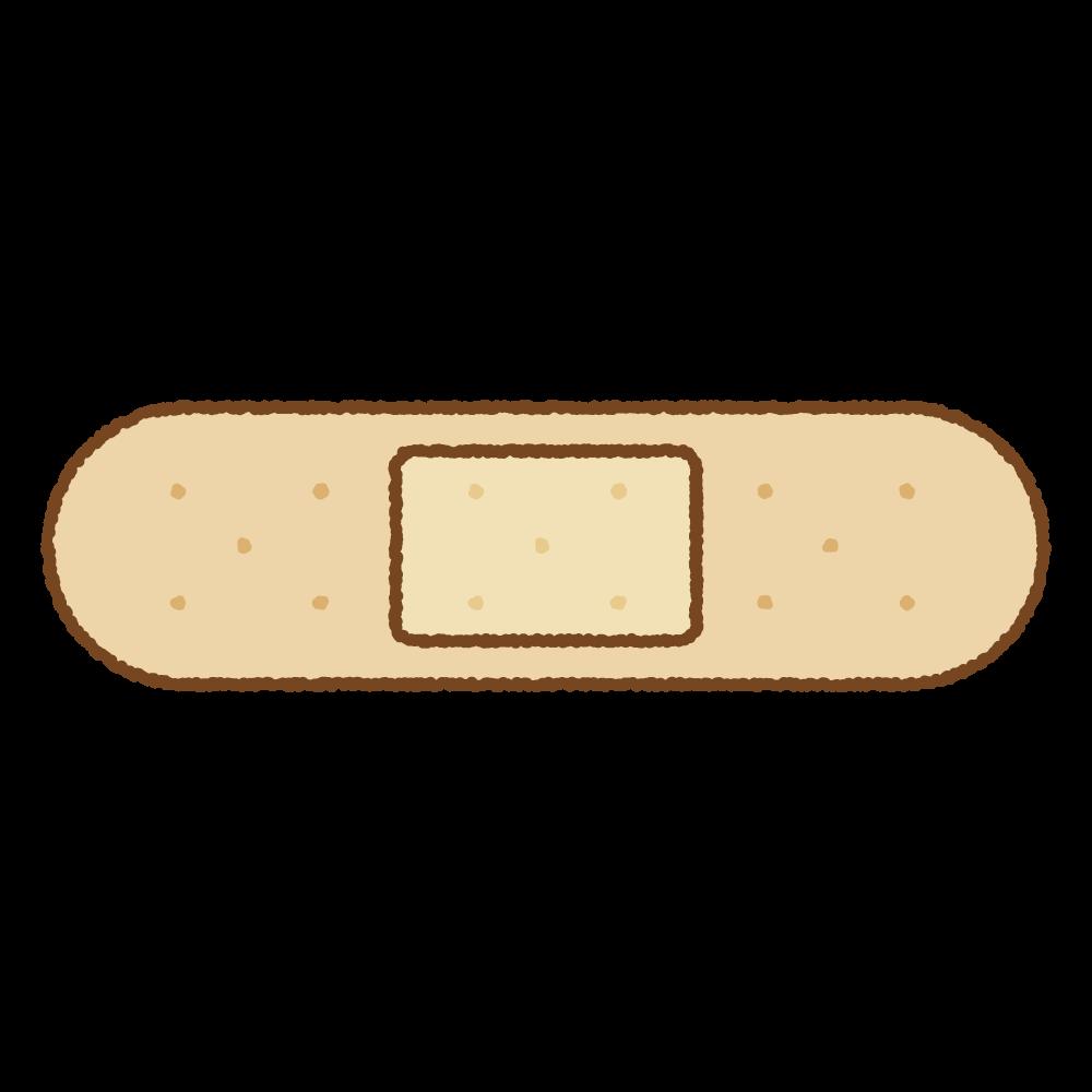 絆創膏のフリーイラスト Clip art of sticking-plaster