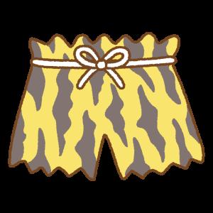 鬼のトラ柄パンツのフリーイラスト Clip art of tiger-pant