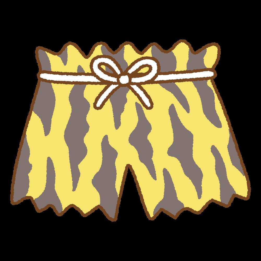 鬼のパンツのフリーイラスト Clip art of oni-pant