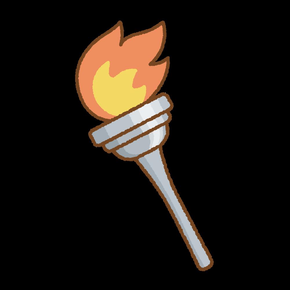 聖火のフリーイラスト Clip art of torch