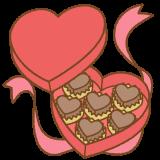 バレンタインチョコレートのフリーイラスト Clip art of valentine-chocolate