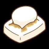 焼き餅のフリーイラスト Clip art of yaki-mochi