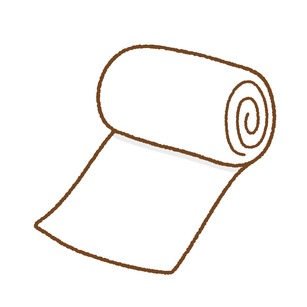 包帯のフリーイラスト Clip art of bandage