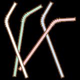 曲がるストローのフリーイラスト Clip art of bendy drinking straw