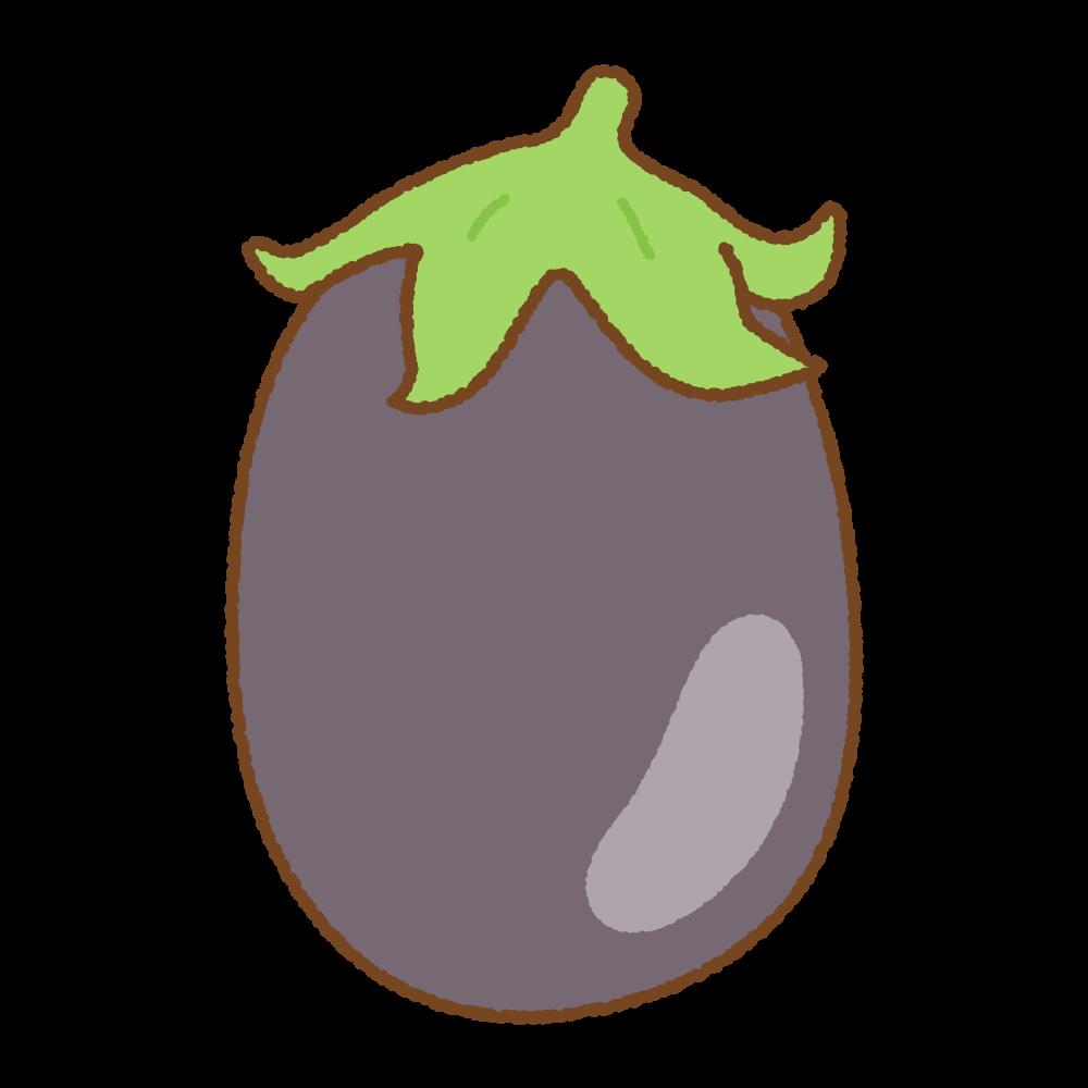 米ナスのフリーイラスト Clip art of black beauty eggplant