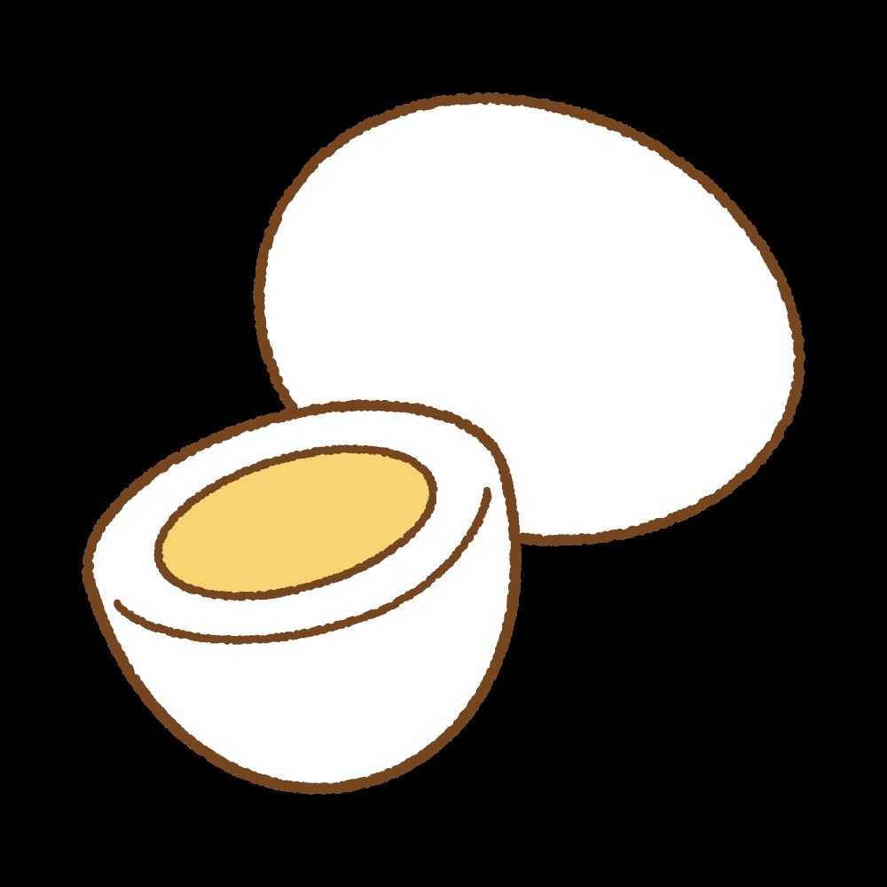 ゆでたまごのフリーイラスト Clip art of boiled egg