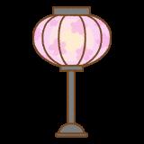 ひなまつりのぼんぼりのフリーイラスト Clip art of bonbori