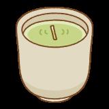 茶柱のフリーイラスト Clip art of chabashira