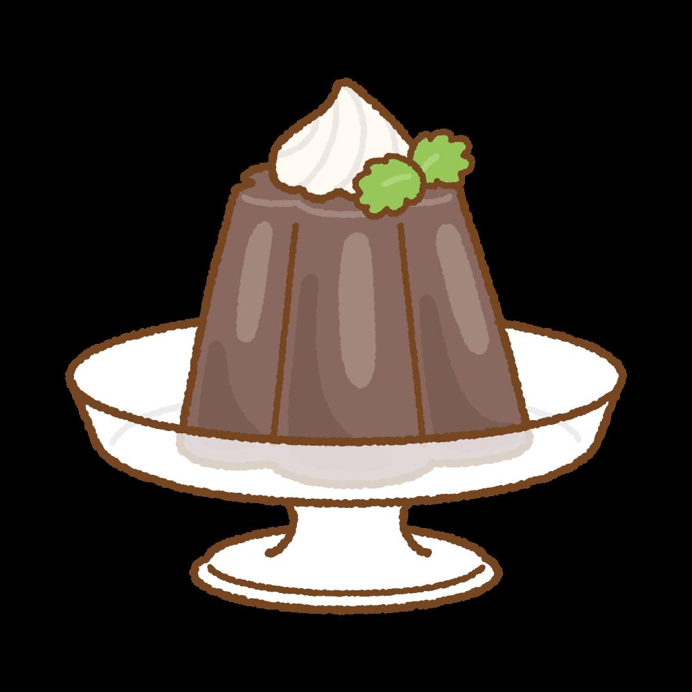 コーヒーゼリーのフリーイラスト Clip art of coffee jelly