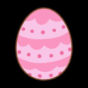 ピンクのイースターエッグのフリーイラスト Clip art of pink easter egg
