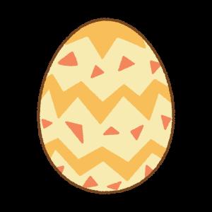黄色のイースターエッグのフリーイラスト Clip art of yellow easter egg