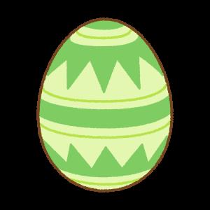 緑のイースターエッグのフリーイラスト Clip art of green easter egg