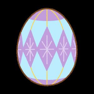 紫のイースターエッグのフリーイラスト Clip art of purple easter egg