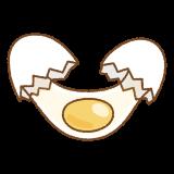 生卵を割るイラスト