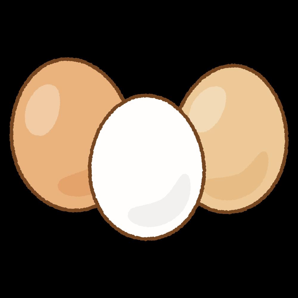 タマゴのフリーイラスト Clip art of eggs