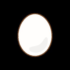 白タマゴのフリーイラスト Clip art of white egg