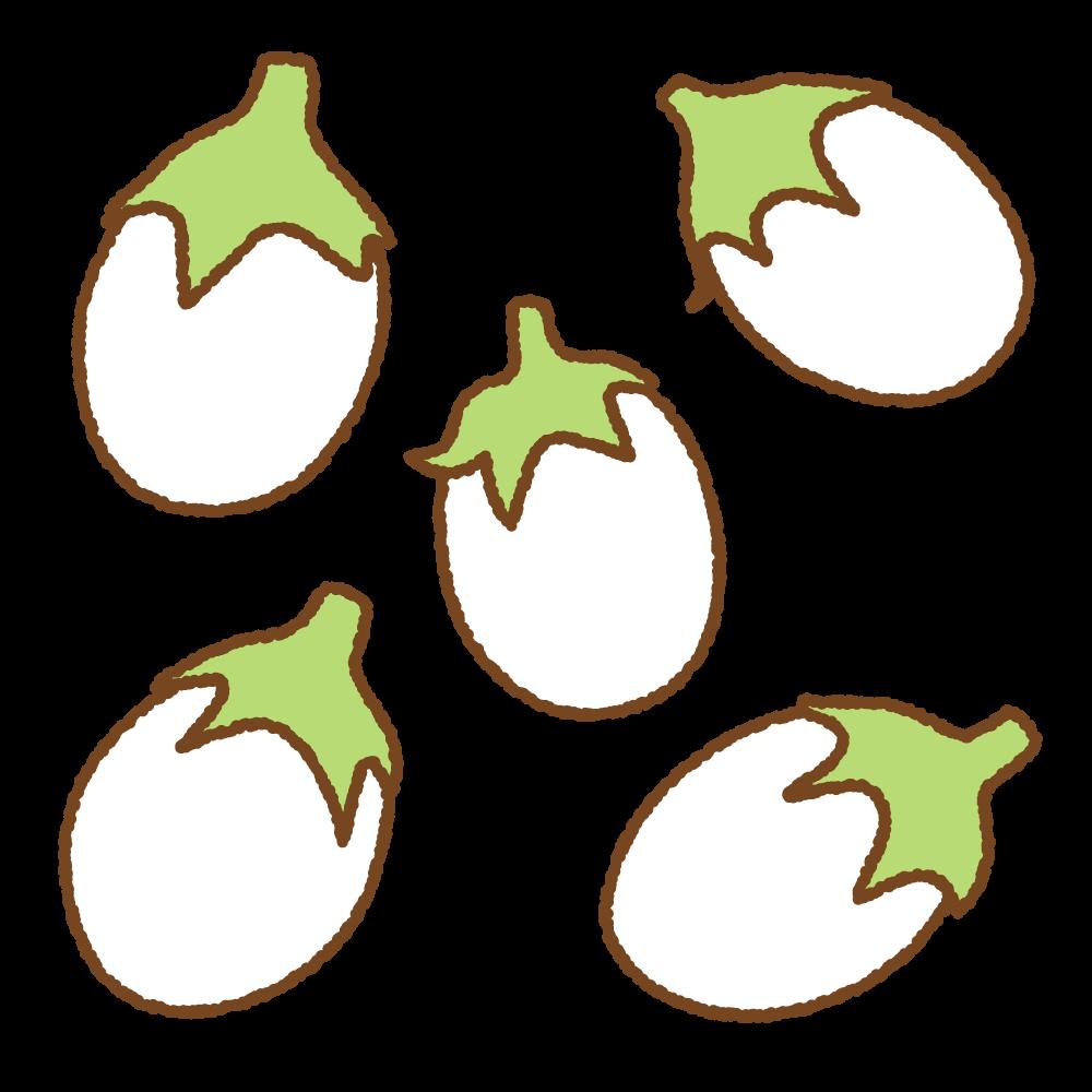 タマゴナスのフリーイラスト Clip art of eggplant